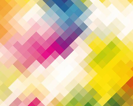 damasks: Colorful Mosaic Diamond Abstract Background For Design Stock Photo