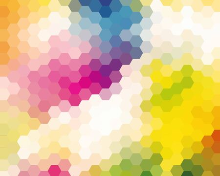 colorfuls: Colorful Mosaic Hexagon Abstract Background For Design