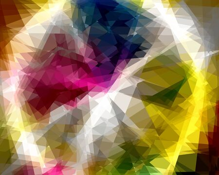 Colorful Cubism Crustal Abstract Background For Design photo
