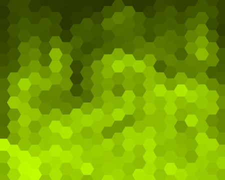Green Mosaic Hexagon Abstract Background For Design Stock Photo - 14859074