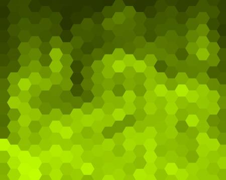 cubismo: Mosaico verde del fondo Hex�gono abstracta para el dise�o Foto de archivo