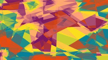 Retro colorful cubism art background for design photo