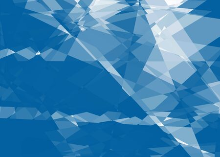 Blue and white cubism art background for design photo
