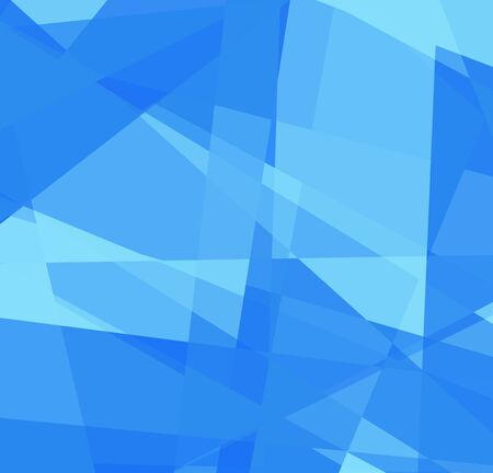 Blue cubism art background for design photo