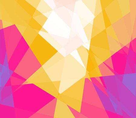 Retro colorful cubism art background for design photo