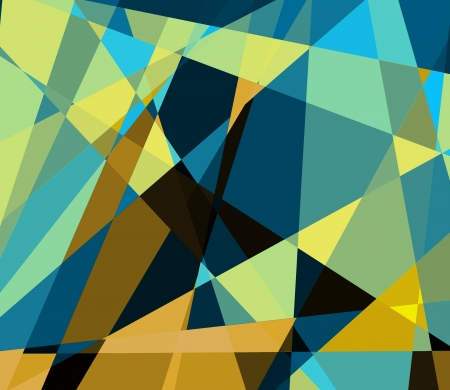 cubismo: Retro cubismo colorido fondo de arte Foto de archivo