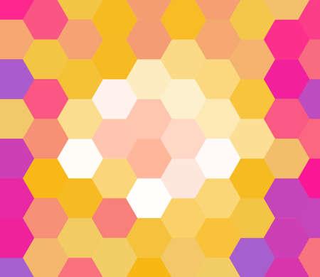 Retro colorful hexagon art background photo