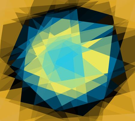 Retro abstract cubism art graphic design background photo