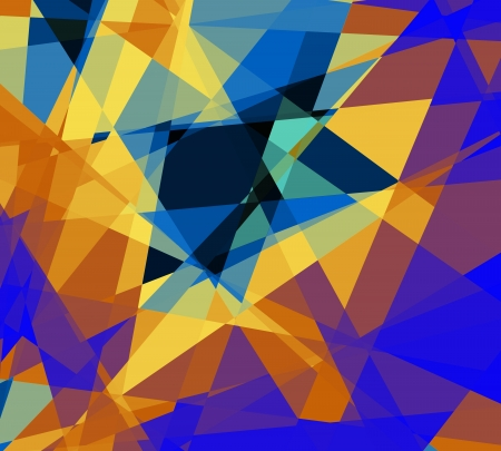 cubism: Retro abstract cubism art graphic design background
