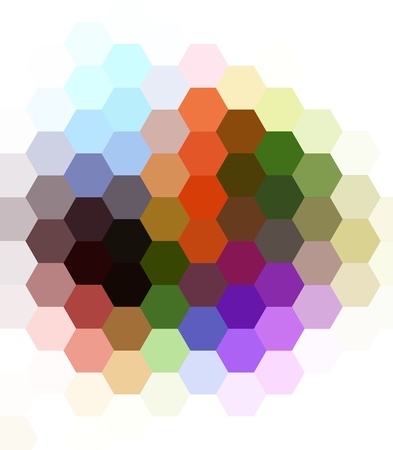 digital print: Colorful seamless hexagon art background Stock Photo
