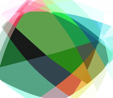 fractal: Crystal cubism art background