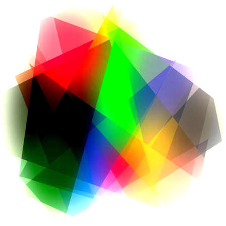 cubism: Colorful Crystal cubism art background