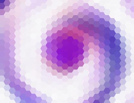cubismo: Retro cubismo p�rpura hex�gono arte