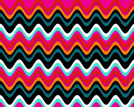 Art Retro Colorful Wave Stripes Abstract Background photo