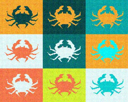 Pop Art Crabs Cubism Graphic Design photo