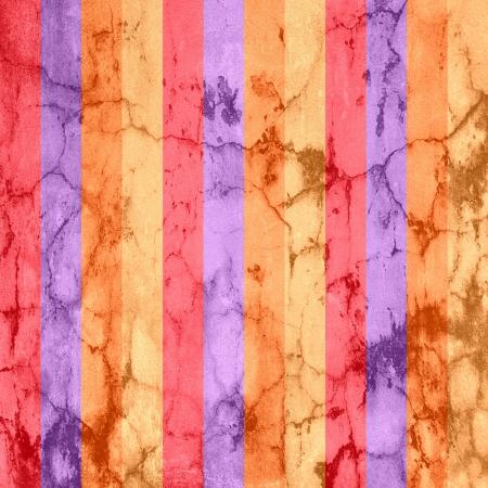 scorched: Vintage Colorful Stripes Texture Background