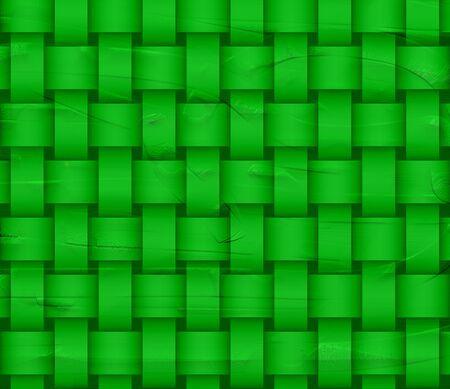 Green wicker background photo