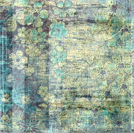 復古花卉垃圾紋理背景 版權商用圖片