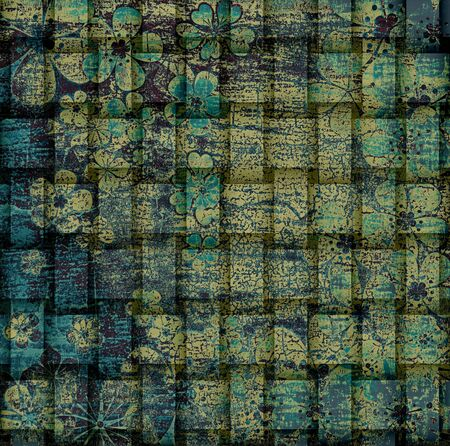 Vintage floral grunge texture background photo
