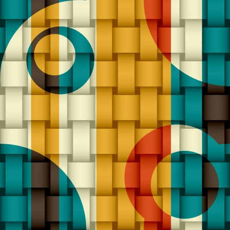 Abstract retro colorful background with space for your text