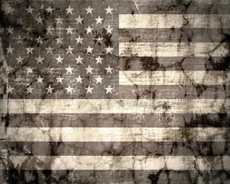 American flag vintage textured background photo