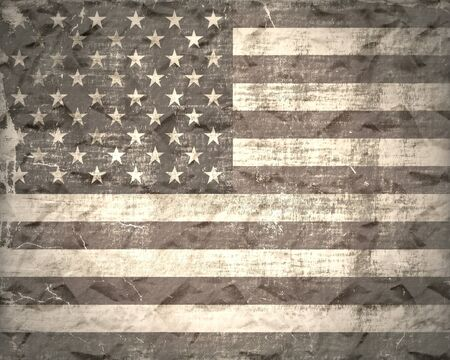 American flag vintage textured background photo