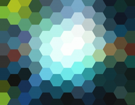 diamong: Abstract technical background made from hexagon