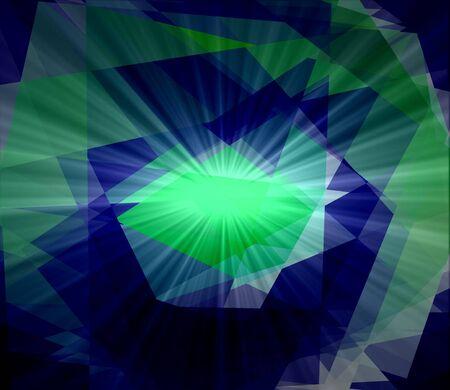 diamong: Colorful cubims diamond ray star light for design