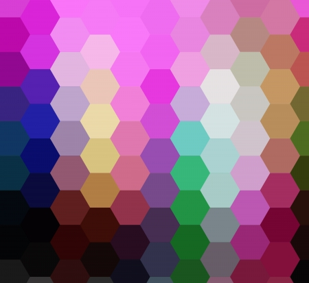 diamong: Colorful cubims hexagon ray light for design Stock Photo