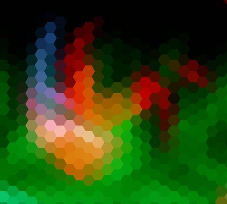 diamong: Colorful hexagon ray light for design