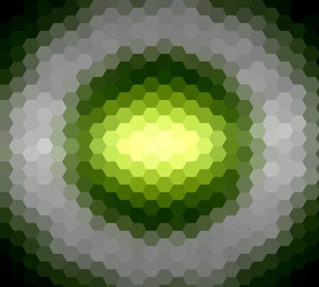 diamong: Lime green hexagon ray light for design