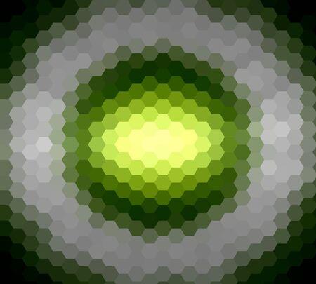 diamong: Lime green hexagon ray light for design