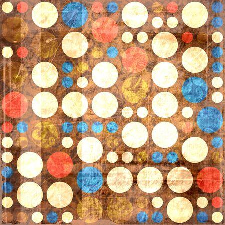 Retro colorful polka dots seamless grunge background Stock Photo - 15224932