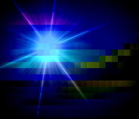 diamong: Abstract technical square background rays star light Stock Photo