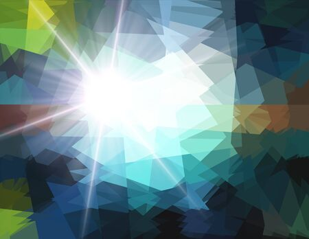diamong: Cubism crystal ray star light for design Stock Photo