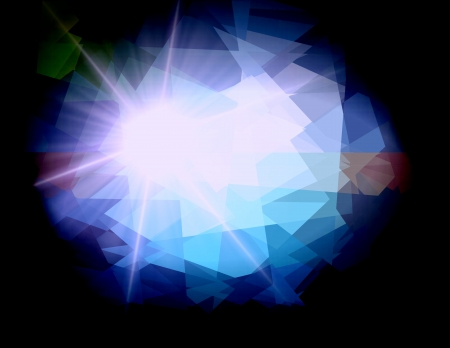 Cubism crystal ray star light for design photo
