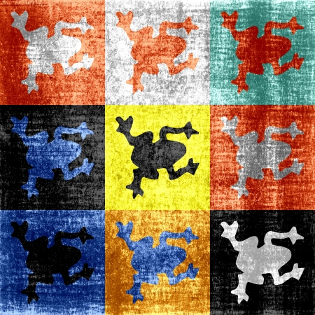 Pop art frog seamless abstract background Stock Photo - 15230437