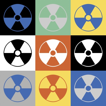 Abstract Radioactive Symbol Background photo
