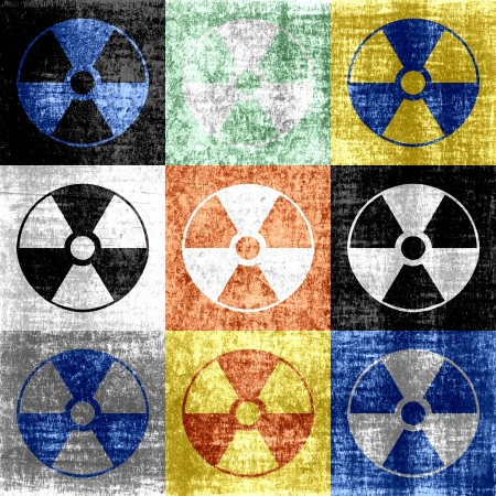 Grunge Radioactive Symbol Background Stock Photo - 15243006