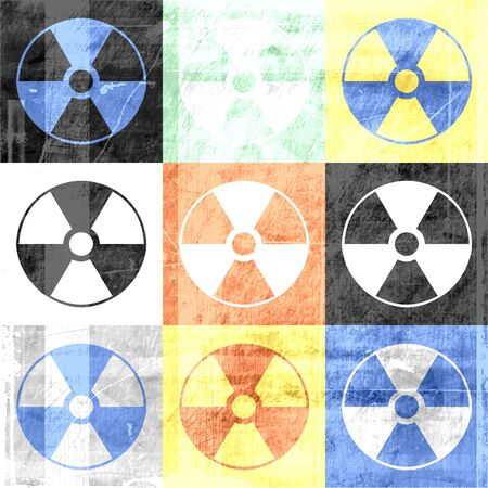 Grunge Radioactive Symbol Background photo