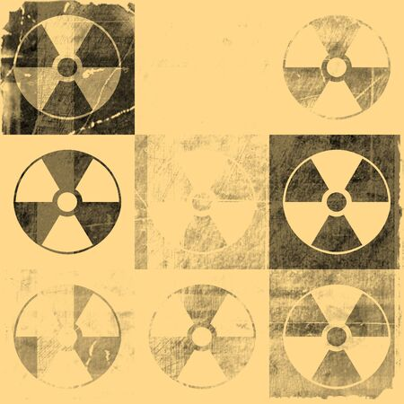 Vintage Grunge Radioactive Symbol Background photo