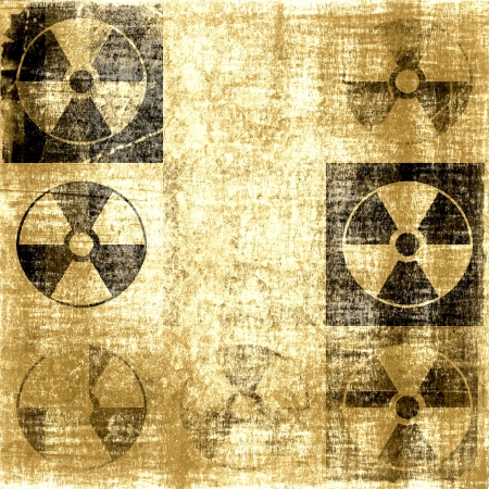 barrel bomb: Vintage Grunge Radioactive Symbol Background