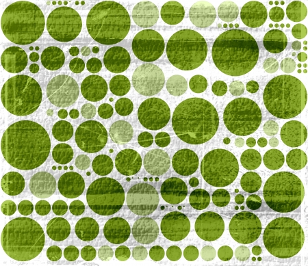 Vintage green polka dots seamless grunge background photo