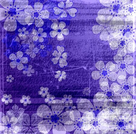 Vintage purple flowers texture abstract background photo