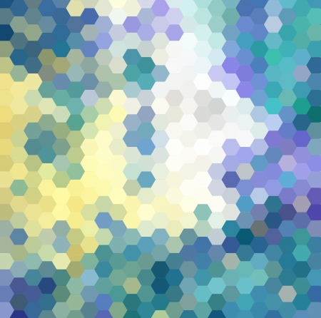 Abstract background made from hexagonal photo