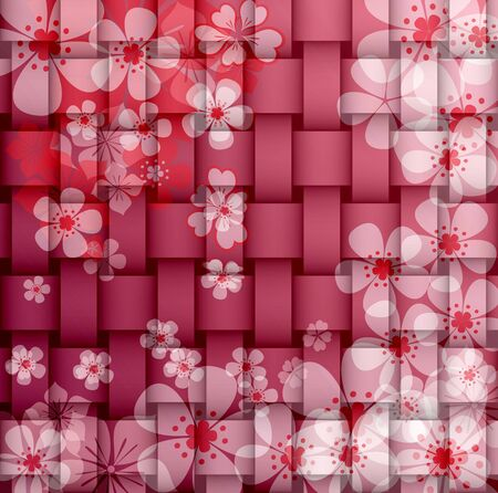 Vintage flowers texture abstract background photo