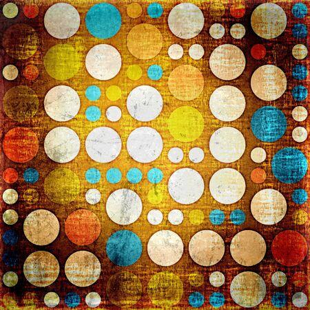 Vintage colorful polka dots seamless grunge background photo