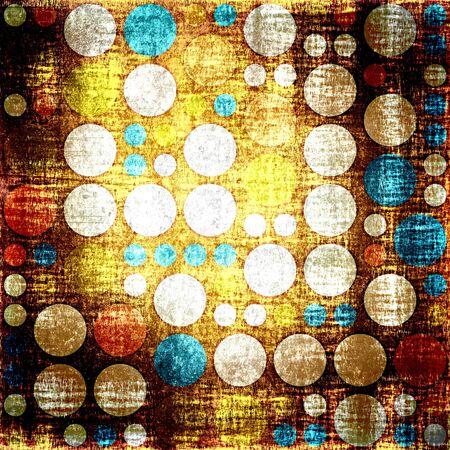 diamong: Vintage colorful polka dots seamless grunge background Stock Photo