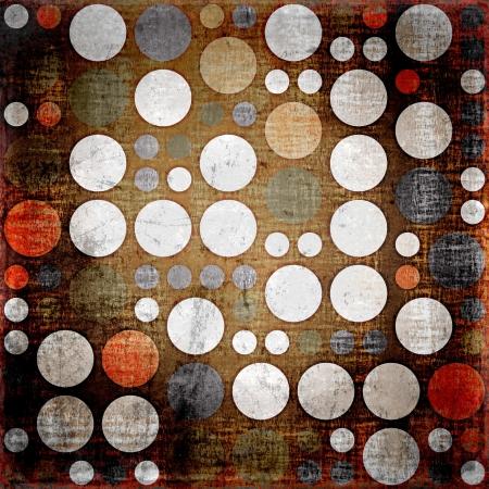 五顏六色的圓點復古無縫垃圾背景