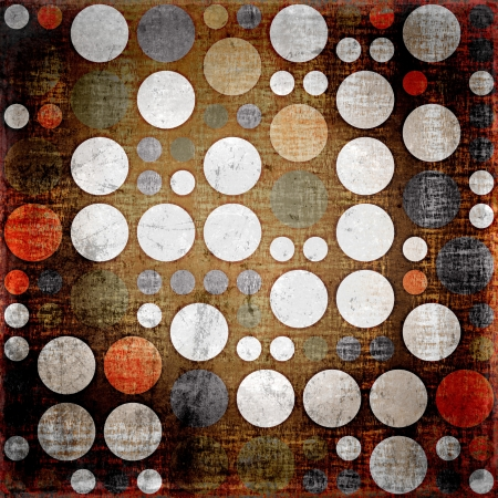 creative arts: Retro colorful polka dots seamless grunge background Stock Photo
